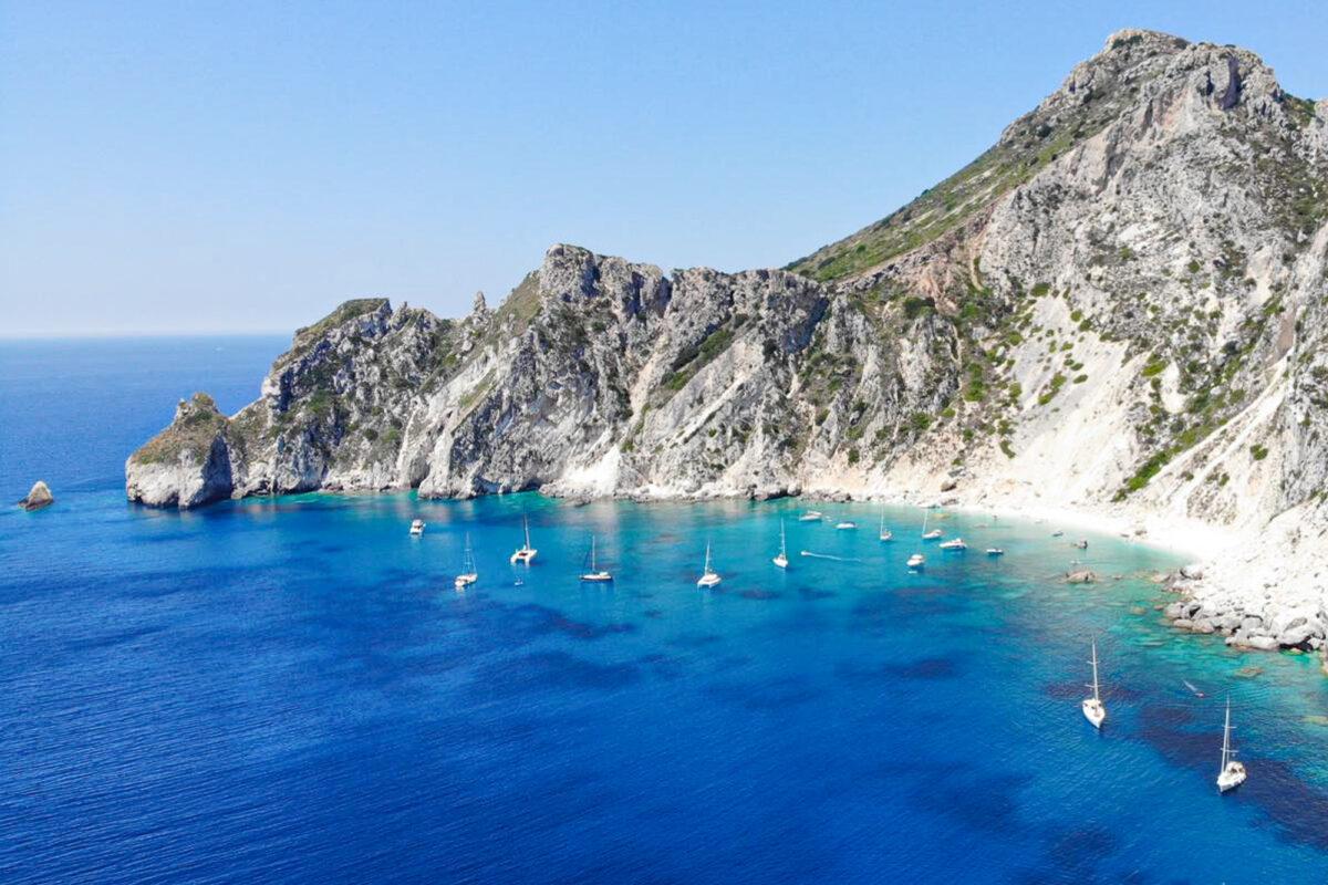 Prachtige baai - zeilen bij Corfu