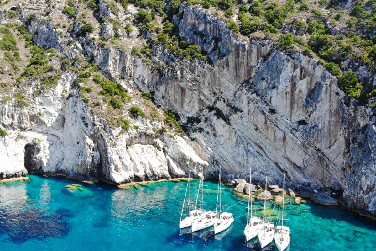 flottielje zeilen in Corfu